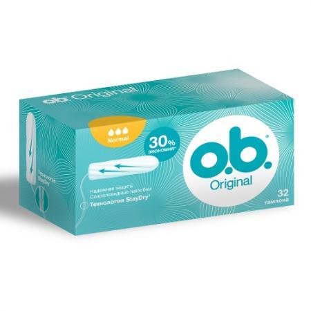 o.b. Тампоны Original нормал 32шт цены