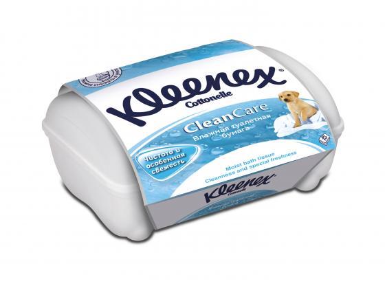 Влажная туалетная бумага Kleenex CleanCare 42 шт влажная гипоаллергенные 9440090 хозяйственные товары максан влажная туалетная бумага детская 40 шт