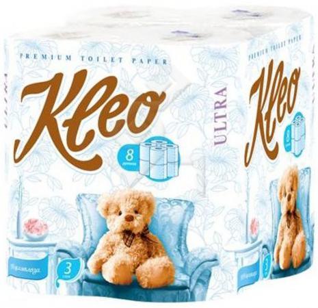 Бумага туалетная Мягкий Знак Kleo Ultra 8 шт 3-ех слойная без отдушки
