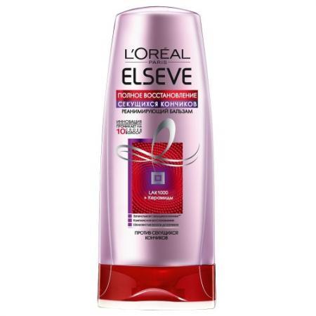 LOREAL ELSEVE Бальзам-ополаскиватель для волос Полное восстановление секущихся кончиков 200мл косметика для мамы loreal elseve маска бальзам цвет и блеск мгновенное преображение 200 мл