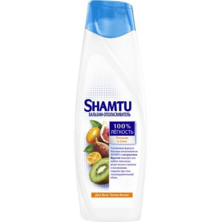 SHAMTU Бальзам Питание и сила с экстрактами фруктов 360мл шампунь shamtu экстракт фруктов 360мл д всех типов волос