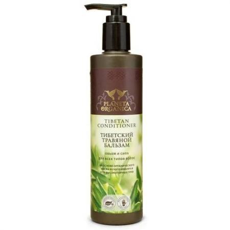 PLANETA ORGANICA Бальзам Тибетский травяной Объем и Сила д/всех типов волос 280 мл. бальзам алеппский питательный для всех типов волос planeta organica