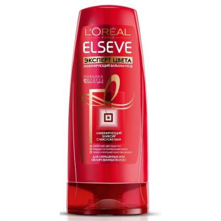 LOREAL ELSEVE Бальзам-ополаскиватель для волос Эксперт цвета 400мл косметика для мамы loreal elseve маска бальзам цвет и блеск мгновенное преображение 200 мл
