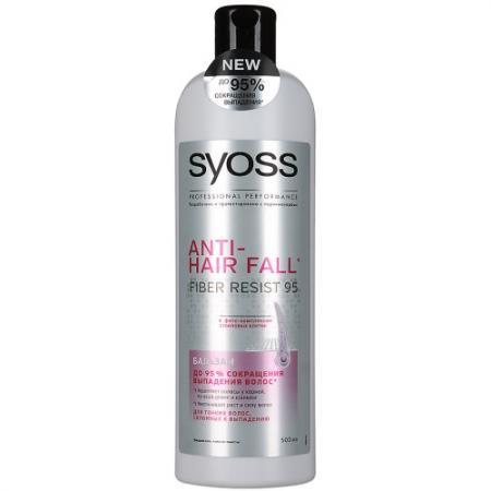 SYOSS ANTI-HAIR FALL Бальзам для тонких волос склонных к выпадению 500мл бальзам syoss renew 7 д мульти поврежденных волос 500мл