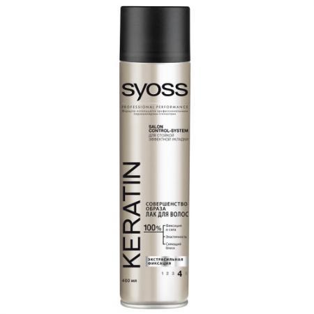 SYOSS Лак для волос Keratin Экстрасильная фиксация 400мл