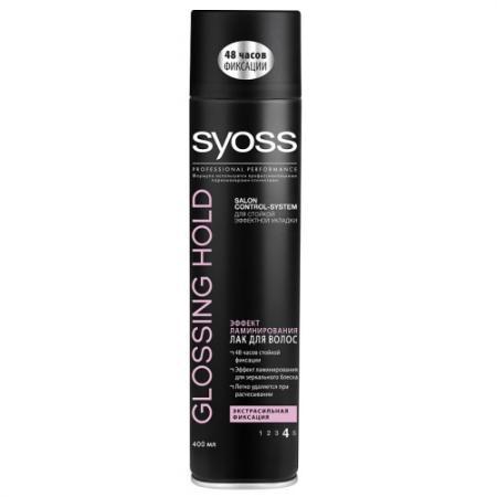 SYOSS Лак для волос Glossing&Hold Блеск экстрасильная фиксация 400мл