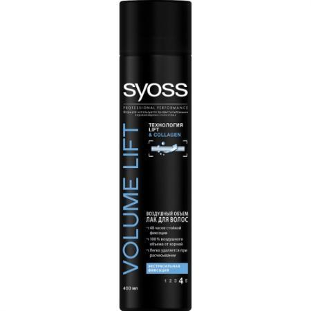 SYOSS Лак для волос Volume LIFT Объем Экстрасильная фиксация 400мл syoss syoss лак для волос volume lift 75 мл