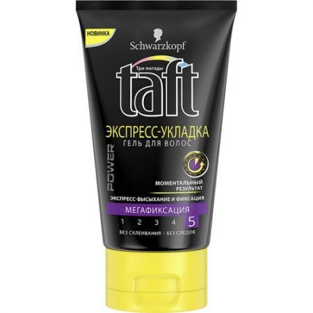 TAFT Гель для волос Power Экспресс-Укладка мегафиксация 150 мл taft 150