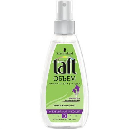 TAFT Жидкость для укладки Объем очень сильная фиксация 150мл