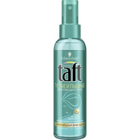 TAFT Спрей уплотняющий для волос Густые и Пышные сверхсильная фиксация 150 мл color wow спрей для укладки волос 2в1 укрепление гибкая фиксация 150 мл