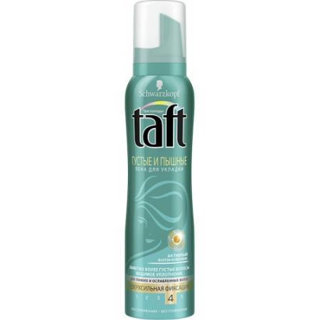 TAFT Пена для укладки Густые и Пышные для тонких и ослабленных волос сверхсильная фиксация 150 мл color wow спрей для укладки волос 2в1 укрепление гибкая фиксация 150 мл