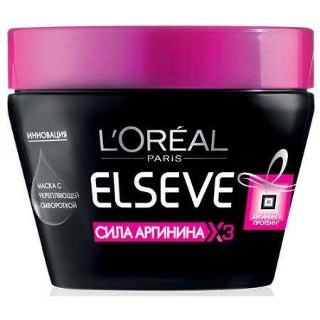 LOREAL ELSEVE Маска для волос Сила аргинина 300мл elseve маска для волос 3 ценные глины 150 мл