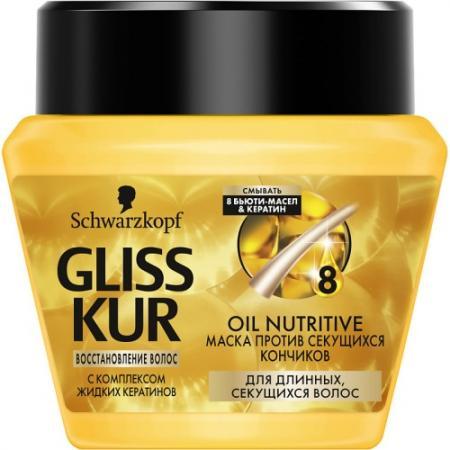GLISS KUR Питательная маска Oil Nutritive 300 мл косметика для мамы gliss kur масло спрей термозащита oil nutritive 150 мл