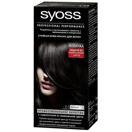 Картинка для Syoss Color Краска для волос 1-1 Черный