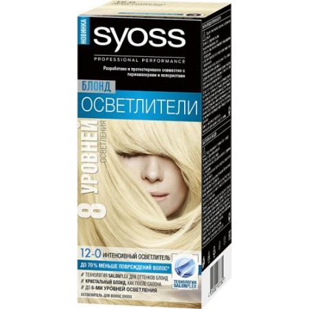 Syoss Oleo Intense Краска для волос 12-0 Платиновый блонд экстра 122,5 мл 10 г