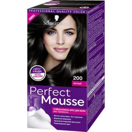 PERFECT MOUSSE Краска для волос 200 Черный