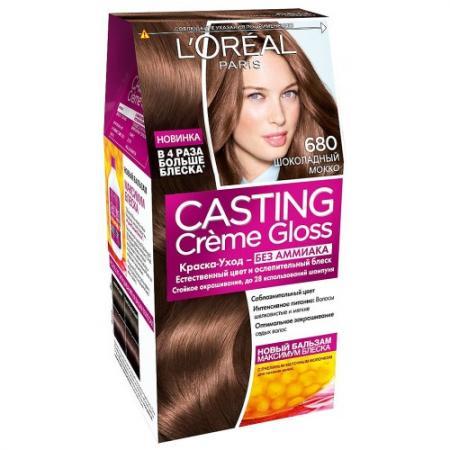 LOREAL CASTING CREME GLOSS Крем-Краска для волос тон 680 Шоколадный Мокко