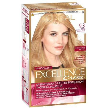 LOREAL EXCELLENCE Краска для волос тон 9.3 Очень светло-русый золотистый silica gel soft wp 26 wp 26 tig 26 tig torch complete package 8m 25feet with m16 x 1 5mm 26 series welding machine parts