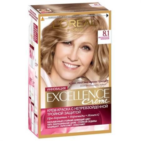 LOREAL EXCELLENCE Краска для волос тон 8.1 светло-русый пепельный