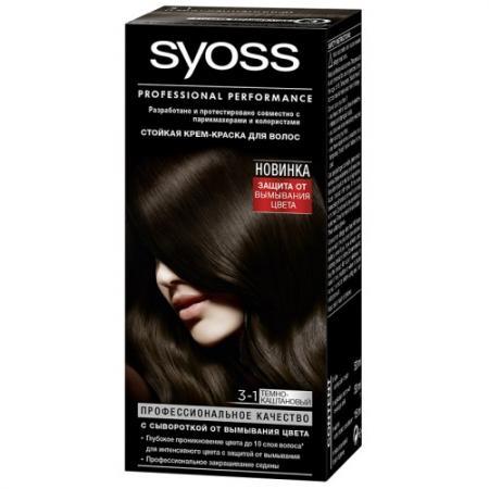 Syoss Color Краска для волос 3-1 Темно-каштановый крем краска syoss color 4 8 каштановый шоколадный