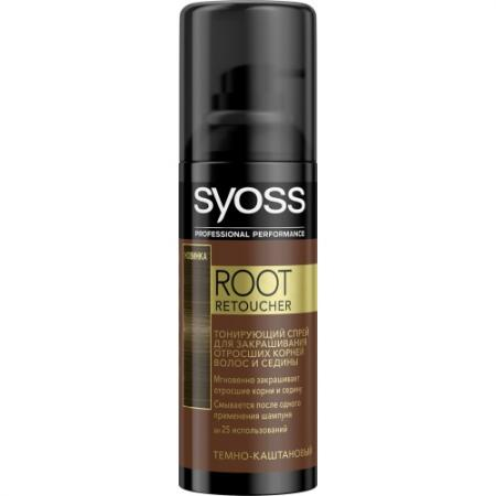 Syoss Root Retoucher Тонирующий спрей для закрашивания отросших корней и седины Темно-каштановый root canal anatomy