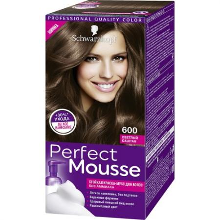 PERFECT MOUSSE Краска для волос 600 Светлый Каштан