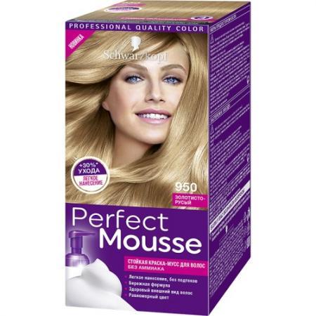 PERFECT MOUSSE Краска для волос 950 Золотисто-Русый краска для волос 5 36 морозный мокко perfect mousse