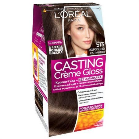 LOREAL CASTING CREME GLOSS Крем-Краска для волос тон 513 морозный капучино l oreal краска для волос casting creme gloss 515 морозный шоколад