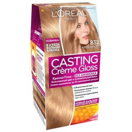 Фото LOREAL CASTING CREME GLOSS Крем-краска для волос тон 832 Крем-брюле