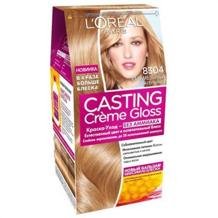 LOREAL CASTING CREME GLOSS Крем-Краска для волос тон 8304 карамельный капучино тональные средства loreal paris тональный крем infaillible loreal