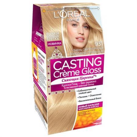 Фото LOREAL CASTING CREME GLOSS Крем-Краска для волос тон 931 Очень светло-русый золотисто-пепельный