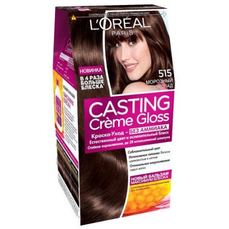 LOREAL CASTING CREME GLOSS Крем-краска для волос тон 515 морозный шоколад тональные средства loreal paris тональный крем infaillible loreal