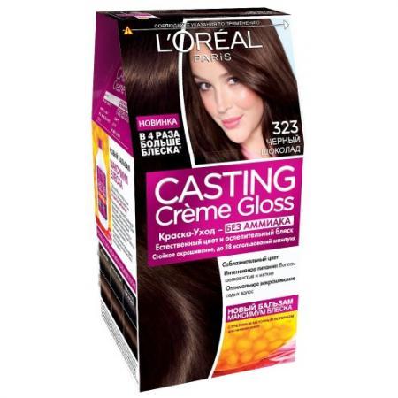 LOREAL СASTING CREME GLOSS Крем-краска для волос тон 323 черный шоколад брошь telle quelle брошь