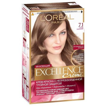 LOREAL EXCELLENCE Краска для волос тон 7.1 русый пепельный loreal excellence краска для волос тон 100 black