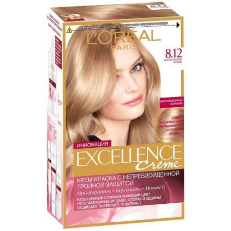 LOREAL EXCELLENCE Краска для волос тон 8.12 мистический блонд
