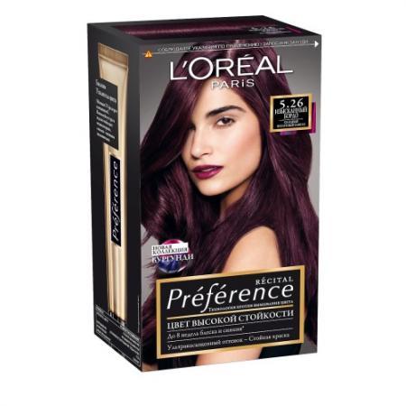 LOREAL PREFERENCE Краска для волос тон 5.26 Изысканный бордо l oreal preference краска для волос тон 5 26 изысканный бордо