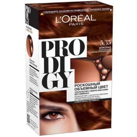 LOREAL PRODIGY Краска для волос тон 5.35 шоколад l oreal prodigy краска для волос тон 3 0 темный шоколад