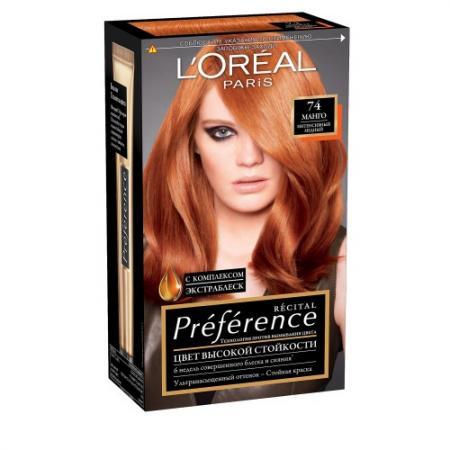 LOREAL PREFERANCE Краска для волос 74 манго 40мл краска для эбру decart алая 40мл 65 40 004