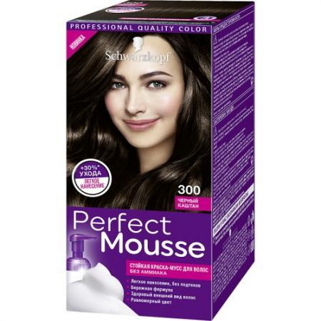 Картинка для PERFECT MOUSSE Краска для волос 300 Черный Каштан