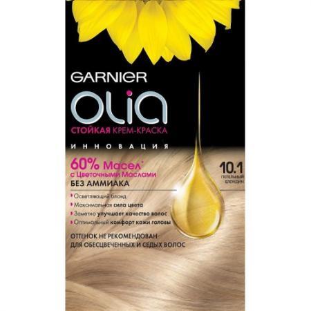 GARNIER Краска для волос OLIA 10.1 Пепельный блондин garnier стойкая крем краска для волос olia без аммиака 10 1 пепельный блондин