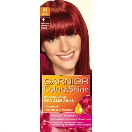 GARNIER Краска для волос COLOR&SHINE 6.60 Дикая Клюква краска для волос garnier garnier ga002lwivs40