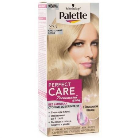 PALETTE PERFECT CARE Крем-краска 220 Кристальный блонд 110 мл palette perfect care 855 золотистый темный мокко 110 мл