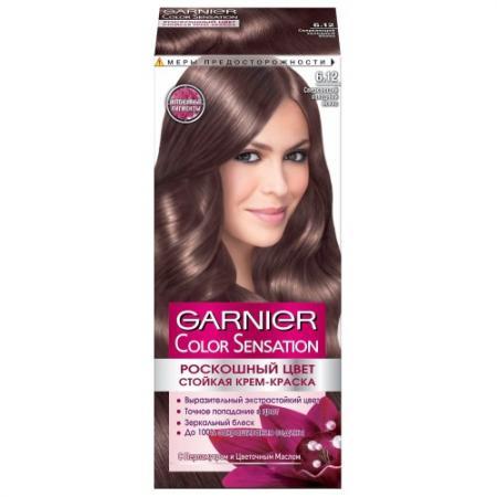 GARNIER Краска для волос Color Sensation 6.12 Сверкающий холодный мокко garnier краска для волос color sensation 7 40 янтарный ярко рыжий