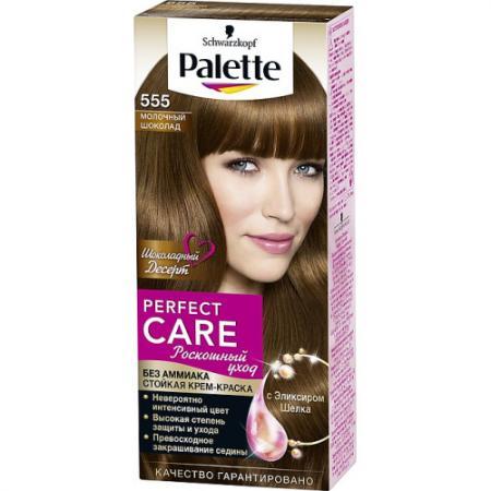 PALETTE PERFECT CARE крем-краска 555 Молочный шоколад 110 мл palette perfect care 855 золотистый темный мокко 110 мл