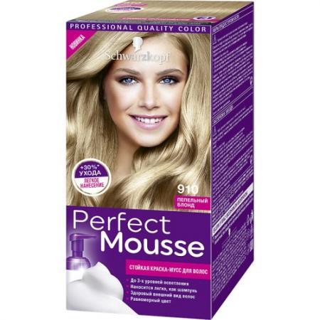 PERFECT MOUSSE Краска для волос 910 Пепельный блонд