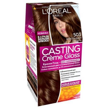 LOREAL CASTING CREME GLOSS Крем-Краска для волос тон 503 шоколадная глазурь тональные средства loreal paris тональный крем infaillible loreal