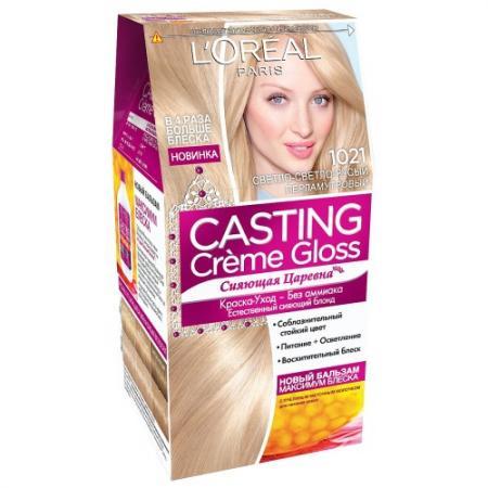 LOREAL CASTING CREME GLOSS Крем-краска для волос тон 1021 светло-светло русый перламутровый тональные средства loreal paris тональный крем infaillible loreal