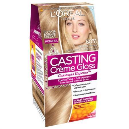 Фото LOREAL CASTING CREME GLOSS Крем-Краска для волос тон 8031 Cветло-русый золотисто-пепельный