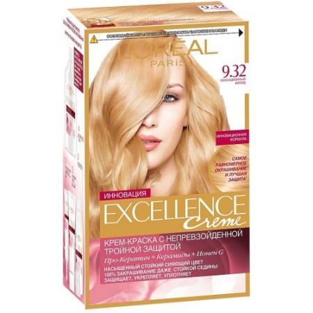 LOREAL EXCELLENCE краска для волос тон 9.32 Сенсационный блонд loreal excellence краска для волос тон 100 black