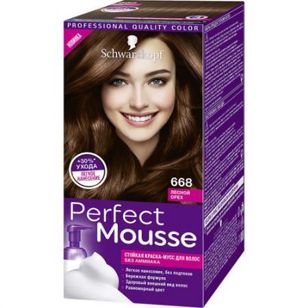 PERFECT MOUSSE Краска для волос 668 Лесной Орех краска для волос 5 36 морозный мокко perfect mousse